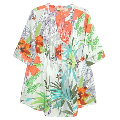 Tropical Floral Tunic