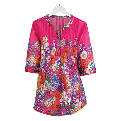 Raspberry Wildflower Tunic