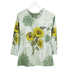 Sunflower and Chickadee Tee