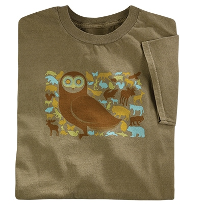 Owl and Friends Organic Tee