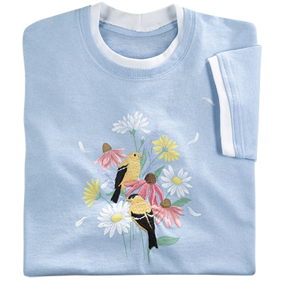 Breezy Flowers & Finches Tee
