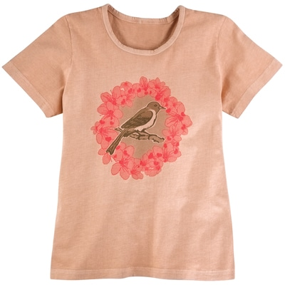 Michigan State Flower & Bird Tee