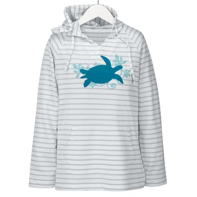 Green Turtle Hooded Shirt