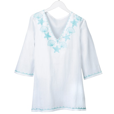 Light Aqua Seashell Tunic