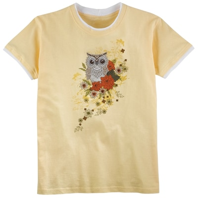 Fall Floral Owl Tee
