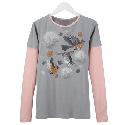 Painted Birds Tee