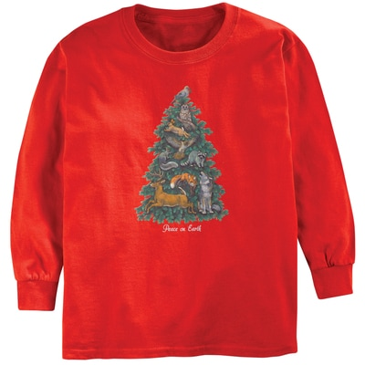 Peace on Earth Tree Kid's Tee