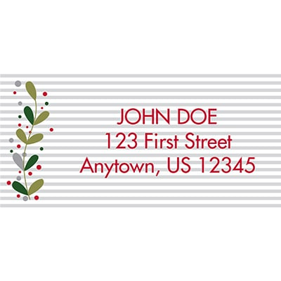 Leaves and Berries Address Labels