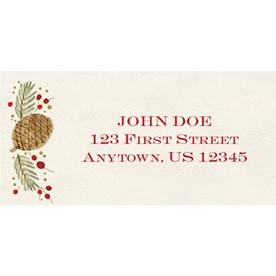 Rustic Pine Address Labels