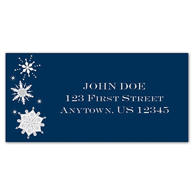 Christmas Snowflakes Address Labels