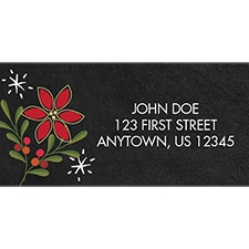 Chalkboard Petals Address Labels