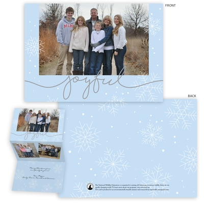 Snowflake Trifold Photo Card