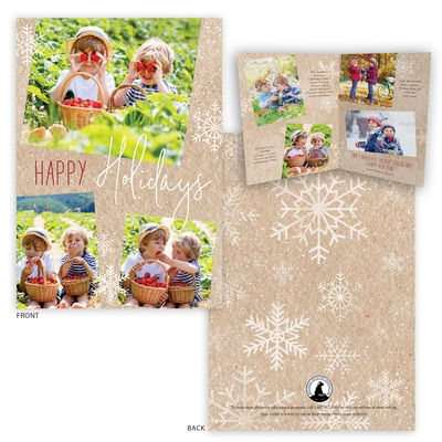 Snowflake Folded Photo Card