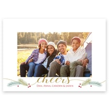 Boughs & Berries Flat Photo Card