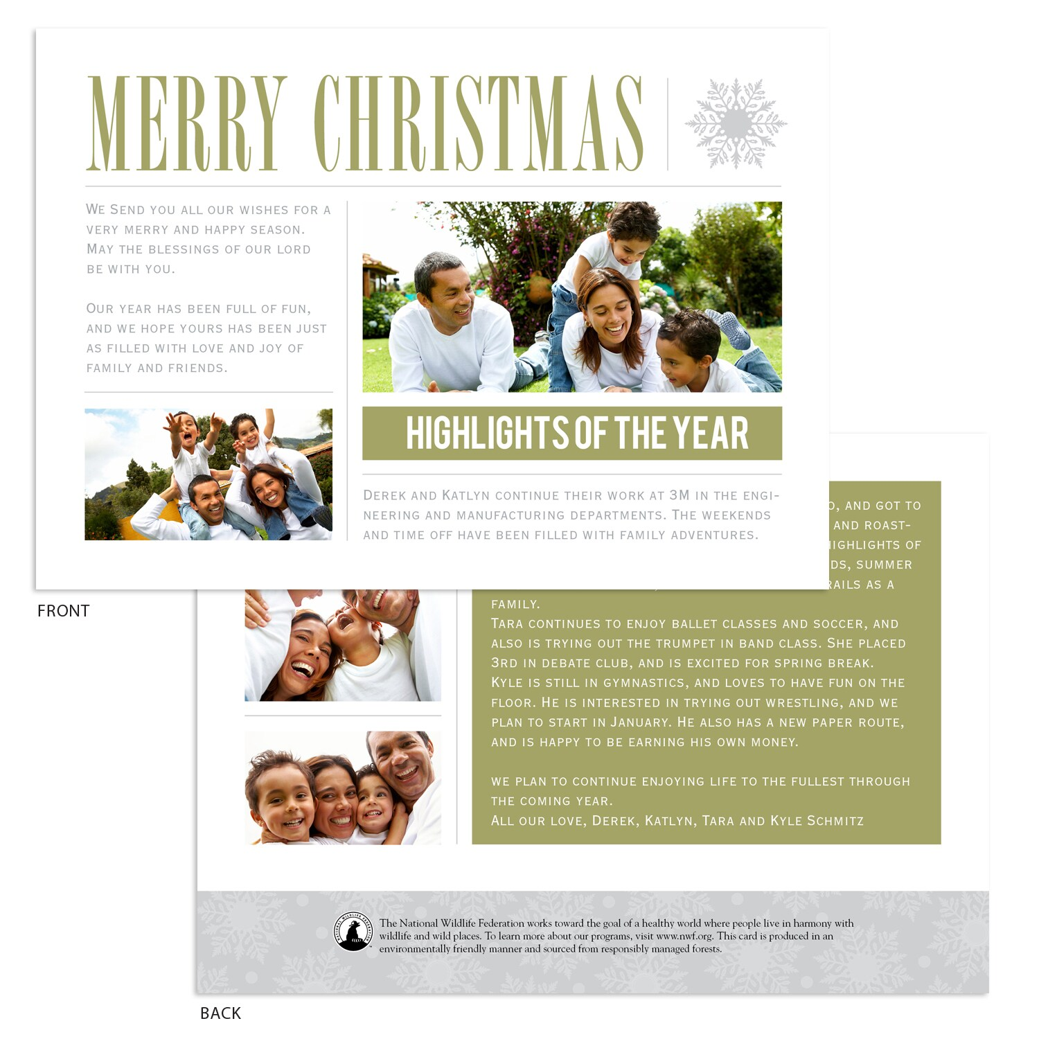 Highlights of the Year Photo Card | Shop NWF