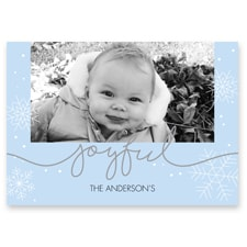 Snowflake Flat Photo Card
