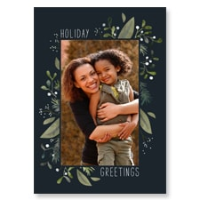 Floral Flat Photo Card