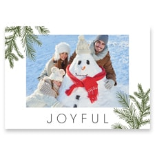 Simple Evergreen Flat Photo Card