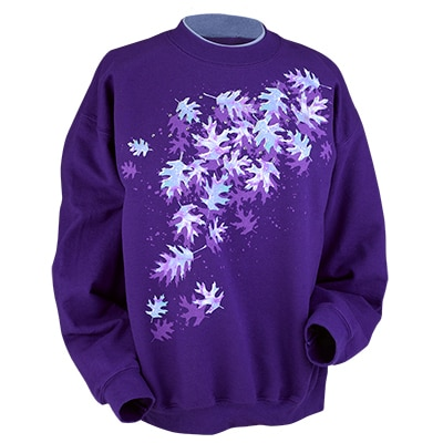 Watercolor Leaves Pullover