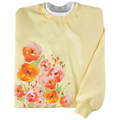 Painted Poppies Pullover