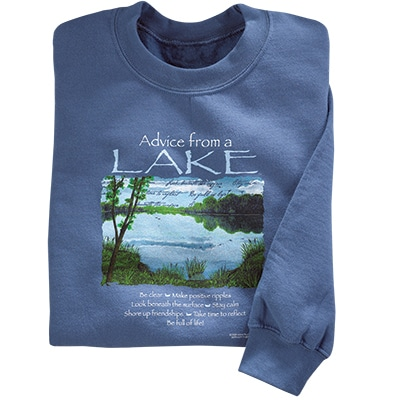 Advice from a Lake Sweatshirt