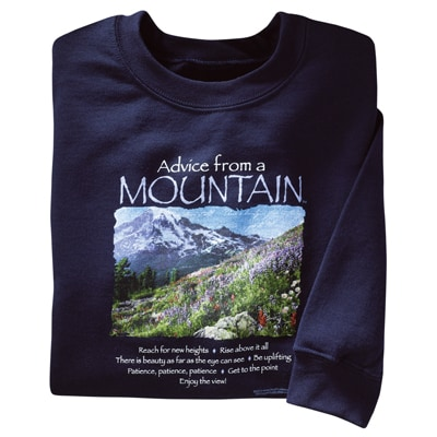 Advice from a Mountain Sweatshirt