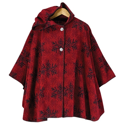 Red Snowflake Cape