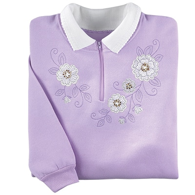 Downy Flowers Pullover