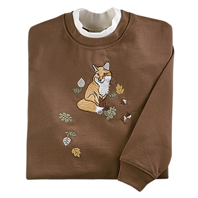 Fox and Falling Leaves Pullover