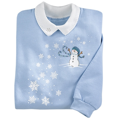 Snowman Blues Pullover