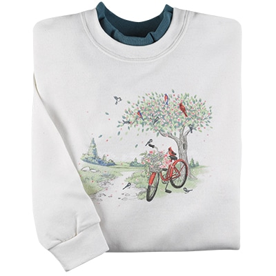 Bicycle & Birds Pullover