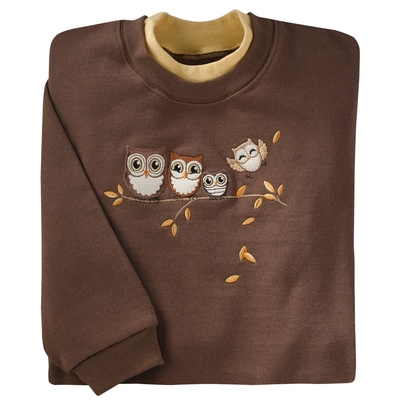 Happy Owlet Pullover