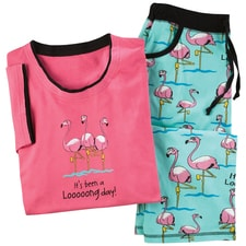 Flamingo Long Day Pajamas