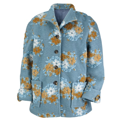 Wildflower Boiled Wool Jacket