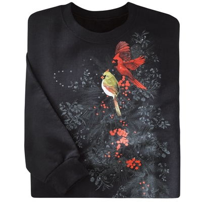 Cardinals in Snow Pullover