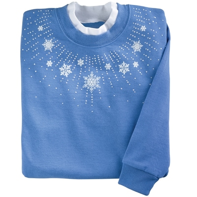 Snowflake Spray Pullover