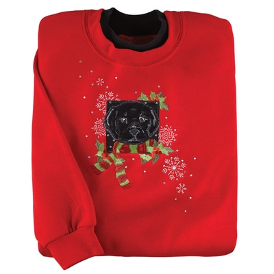 Holiday Black Lab Pullover