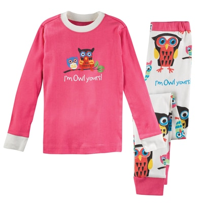 Pink Owl Collection Pajama Set