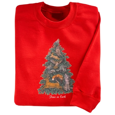 Peace on Earth Tree Pullover
