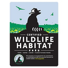 New Certified Wildlife Habitat Sign