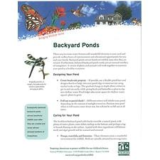 Backyard Ponds for Wildlife Tip Sheet