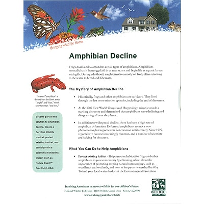 Amphibian Decline Tip Sheet