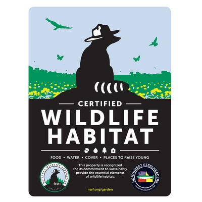 Oregon Northwest Steelheaders Certified Wildlife Habitat Sign