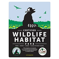 South Carolina Wildlife Federation Certified Wildlife Habitat Sign