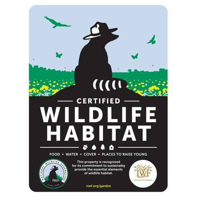 Tennessee Wildlife Federation Certified Wildlife Habitat Sign