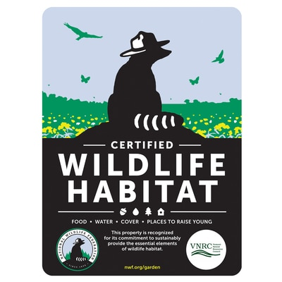 Vermont Natural Resources Council Certified Wildlife Habitat Sign