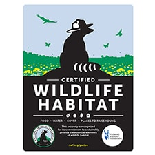 Wyoming Wildlife Federation Certified Wildlife Habitat Sign