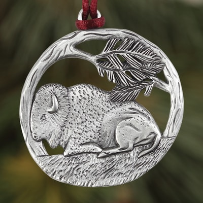 Bison Plant a Tree Ornament