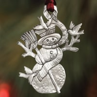Snowman Plant a Tree Ornament
