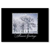 Glittering Snowfall Card